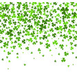 saint patrick s day border with green four vector image vector image