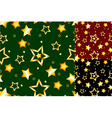 Seamless gold star pattern vector image vector image