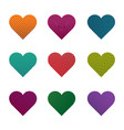 set hearts vector image