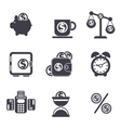 Set of money finance banking icons vector image vector image