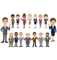 set of office workers in different poses vector image vector image