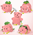 Set of piggy bank in different situations vector image vector image