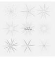 set of sunburst vector image vector image