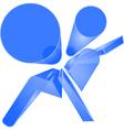 shiny blue airbag symbol vector image vector image