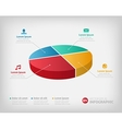 Simple pie chart graphic for business design or vector image