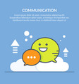 speech bubble communication concept flat vector image