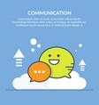 speech bubble communication concept flat vector image vector image