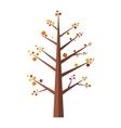 Summer tree flat icon vector image