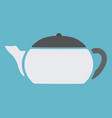 teapot on blue background vector image