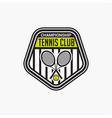 tennis club badge logo-12 vector image vector image