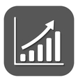 The growing graph icon Progress symbol Flat vector image