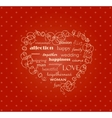 The heart on the red background vector image vector image