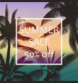 the summer sale poster in a frame on the vector image vector image