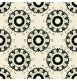 Tile Print Seamless of black stylized flowers or vector image vector image