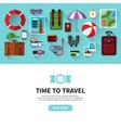 Time to travel Flat design banner vector image vector image