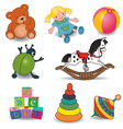 toyssetofeightcolor vector image vector image