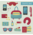 travel kit vector image vector image