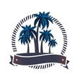 trees palms emblem icon vector image vector image