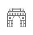 triumphal arch gate india to new delhi line vector image vector image