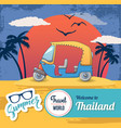 welcome thailand concept banner cartoon style vector image vector image