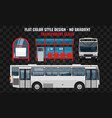white bus side and front view cool modern flat vector image