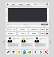 white web design elements set vector image vector image