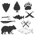 wild forest hand drawn labels set vector image vector image
