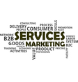 word cloud services marketing vector image vector image