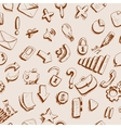 Doodle internet icons seamless background vector image