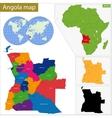 Angola map vector image vector image