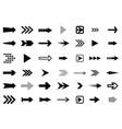 arrows big black set icons arrow icon vector image vector image