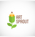 art sprout abstract emblem label or logo vector image