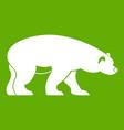 bear icon green vector image vector image
