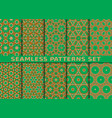 beautiful colorful seamless patterns set vector image vector image