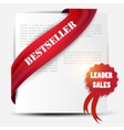 bestseller red banner and label set vector image vector image