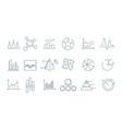 business graph icon trending charts simple linear vector image