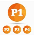 Car parking icons First and second floor sign vector image vector image