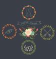 Chalkboard Natural Floral Wreaths vector image vector image