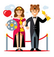 cinema award best actor and actress flat vector image vector image