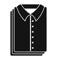 clean shirts icon simple style vector image
