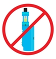 Colorful no vaping sign Prohibition sign No vector image