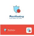 creative shield logo design flat color logo place vector image