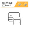 credit card wallet editable stroke line icon vector image