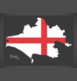 dorset map england uk with english national flag vector image vector image