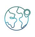 earth planet icon vector image vector image