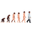 evolution of a doctor vector image vector image