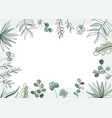 floral in trendy continuous vector image vector image