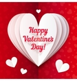Folded paper heart with Happy Valentines Day text vector image vector image