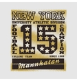 football New York typography athletic design vector image vector image
