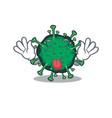 funny face bat coronavirus mascot with tongue out